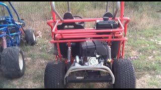Taking The BEAST modified Yerf dog Suzuki gs550 go kart out + CRASH