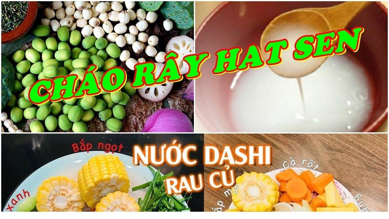Nấu Cháo Hạt Sen Nước Dashi Bằng Nồi Bear Cho Bé Ăn Dặm 5-6 Tháng Tuổi -  Thực Đơn Ăn Dặm Kiểu Nhật - YouTube