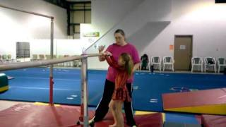 LeapsGymnastics single leg swing up 1