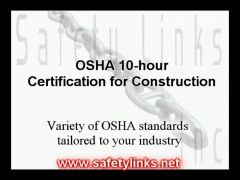 OSHA 10-hour Certification for Construction - YouTube