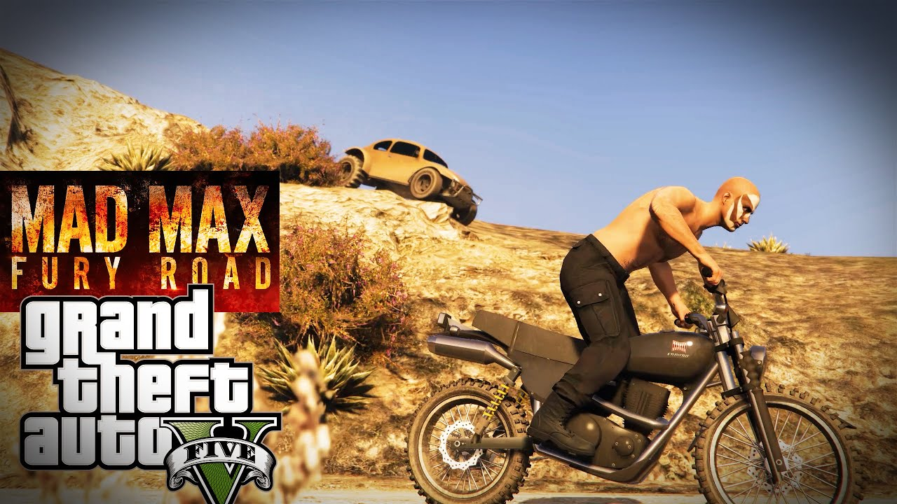 Mad Max Motorcycle >> Mad Max Fury Road - Grand Theft Auto V - YouTube