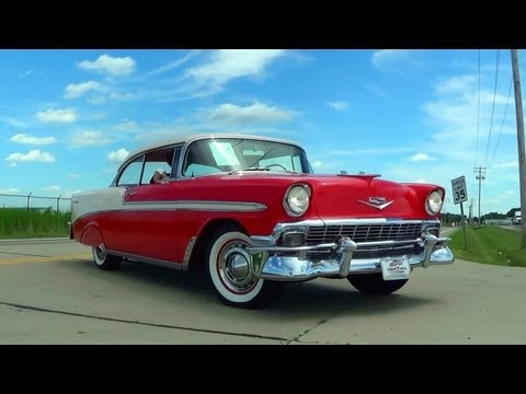 Test Driving 1956 Chevrolet Bel Air Restomod 383 Stroker Five-Speed Fast Lane Classic Cars