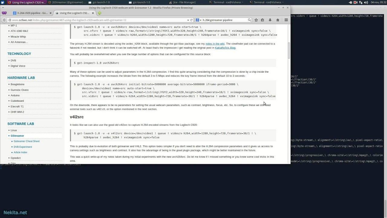 Linux: @gstreamer 1 4 3 h 264 bug (Logitech C920)