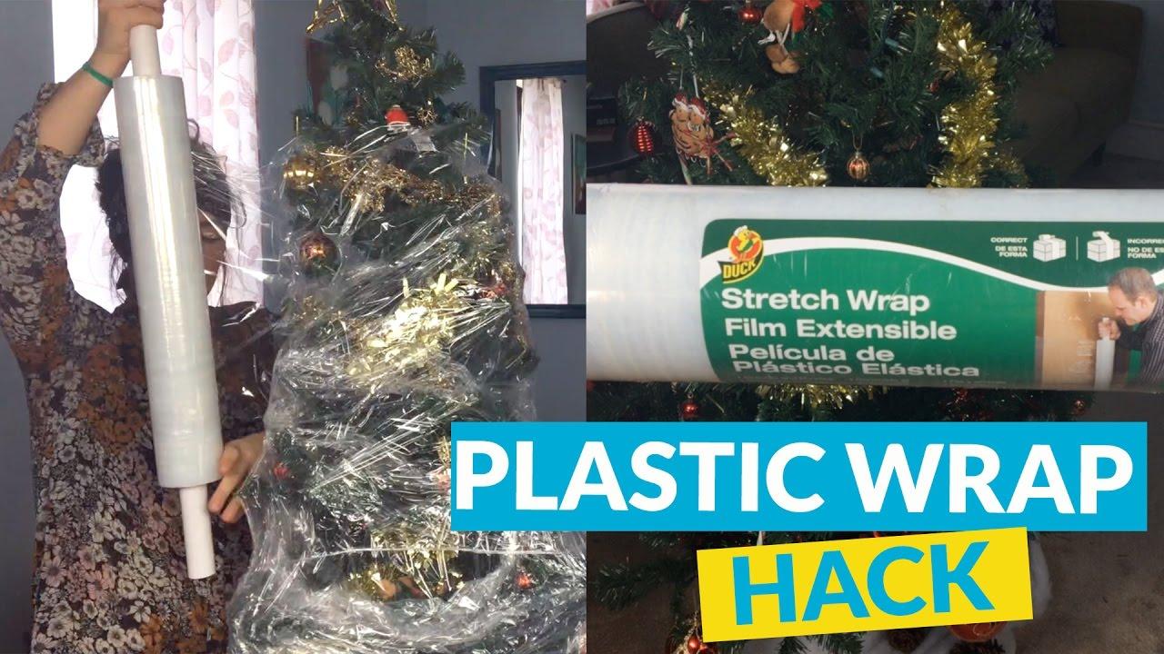 plastic wrap christmas tree storage - Christmas Tree Storage