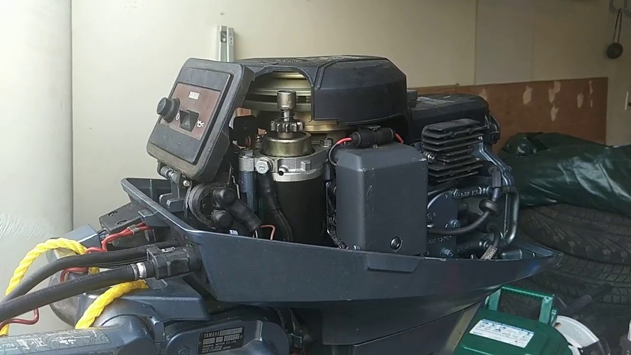 9 9 HP Yamaha outboard idle problems and carburetor spraying with carb  cleaner