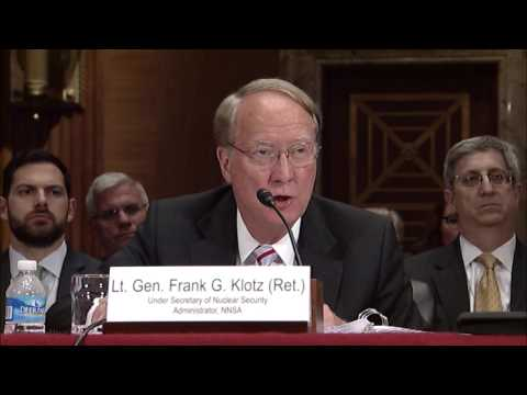 Tom Questions NNSA Administrator on Support for National Labs in NNSA Budget