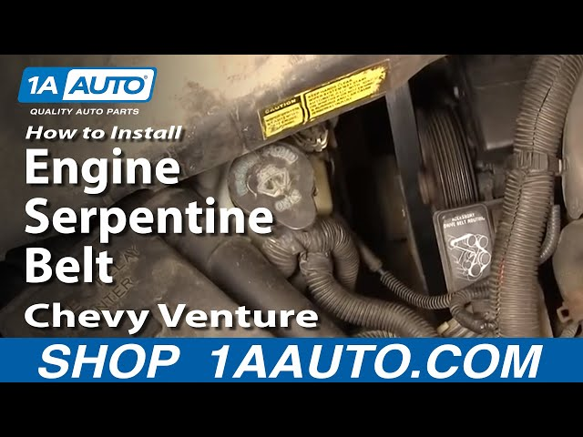 How To Replace Serpentine Belt 97 98 Chevy Venture 1a Auto
