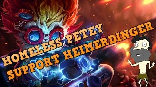 Heimerdinger Support OP! Full Commentary Support Gameplay Guide by Homeless Petey