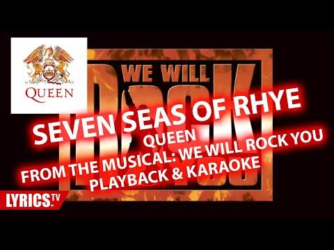 Seven Seas Of Rhye | QUEEN | Karaoke & Playback & Backing Track | Musical We Will Rock You