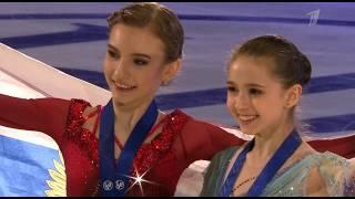 Церемония Награждения ЮЧМ по фигурному катанию 2020 Девушки