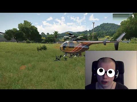 Flyger Helikopter med Ögonen | ArmA3 med Tobii Eyetracker 4C [ReUpload]*