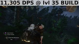 Witcher 3 - 11,305 DPS at lvl 35 Build, no glitch
