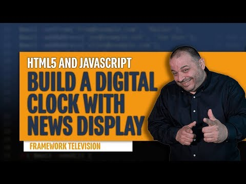 Javascript Digital Clock Tutorial | Code a Digital Clock in JavaScript thumbnail