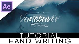 Membuat Effect Tulisan Tangan (After Effect Tutorial)