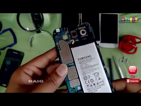 Samsung Galaxy e5   Disassemble and all pats  Display and Battery Replacement