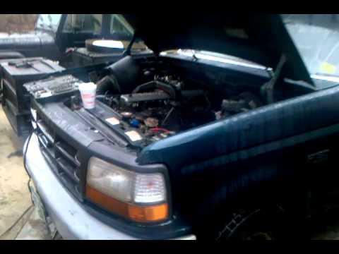 Cummins Turbo Diesel >> Fummins 93 F150 12v cummins turbo diesel - YouTube
