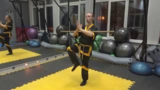 Упражнения с посохом или шестом для детей и начинающих изучать Кунг Фу взрослых. 1 часть