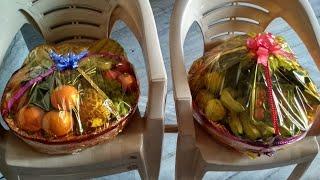HOW TO MADE FRUIT BASKET   फ्रूट टोकरी कैसे बनाते है   fruit basket for marriage preparation