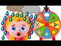 LITTLE PRINCESS PLAYS WITH THE WHEEL OF FORTUNE ❤ SUPERHERO PLAY DOH CARTOONS FOR KIDS
