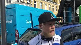 Julius Johansen forud for første etape i PostNord Danmark Rundt 2019