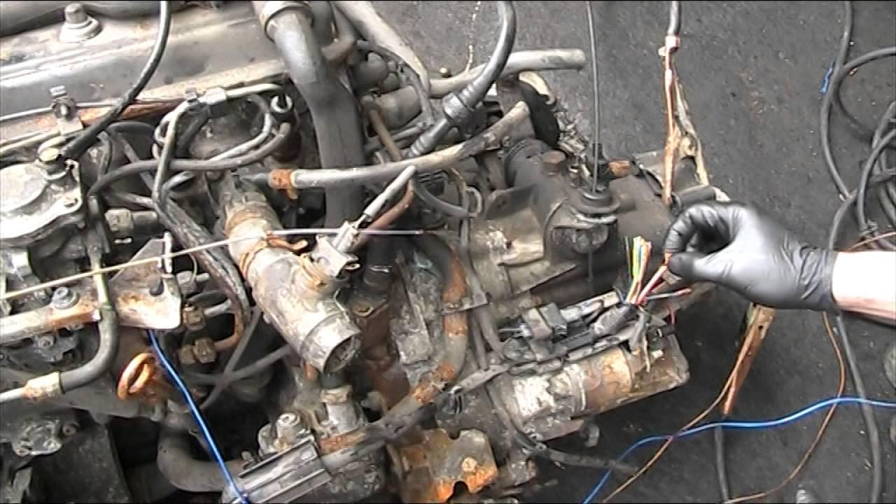 vw aaz 1.9 td engine start up on the floor - YouTube