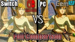 [Switch Vs Cemu] The Legend of Zelda: Breath of the Wild (Full Comparison) (PC vs Console) Video