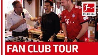 Coutinho Lewandowski Gnabry Co Visit Bayern Fan Clubs