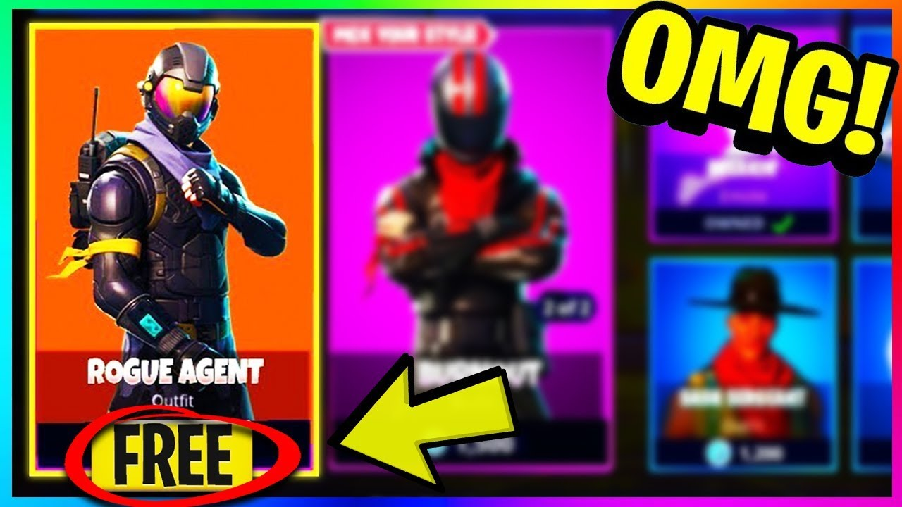 FREE u0026quot;ROGUE AGENTu0026quot; SKIN u0026 OUTFIT DOWNLOAD COMING SOON! (Fortnite Battle Royale Starter Pack ...