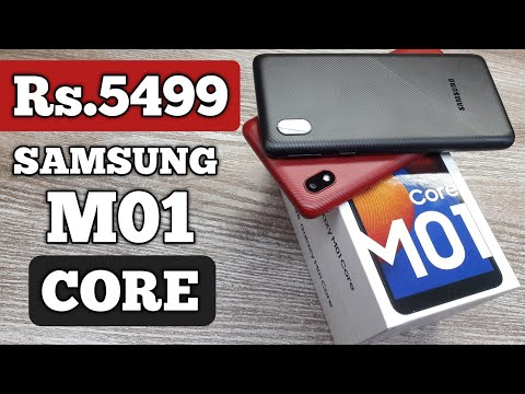Samsung Galaxy M01 Core Unboxing - Red & Black