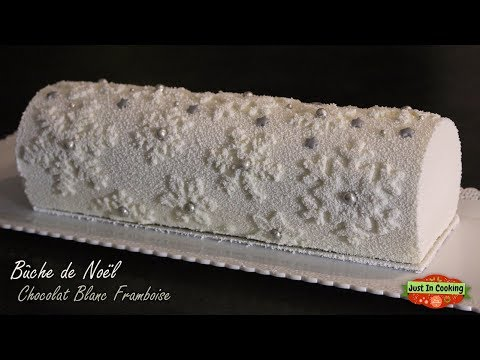 ❅-recette-de-bûche-de-noël-chocolat-blanc,-framboise,-thé-matcha-❅