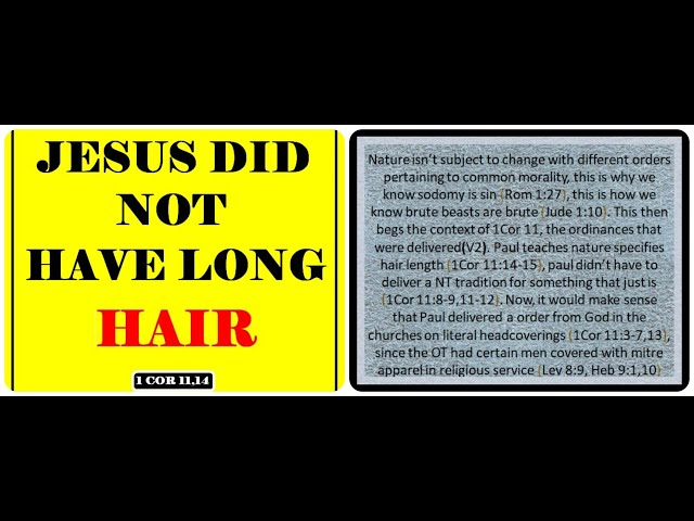 Jesus Did NOT Have Long  Hair