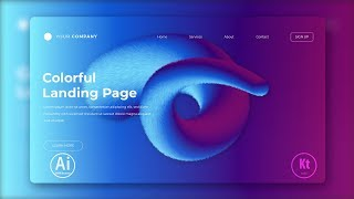 Landing Page - Abstract Background #5 - Blend Tool  - Adobe Illustrator Tutorial