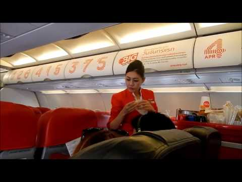 Air Asia Flight Phnom Penh Cambodia to Bangkok Thailand