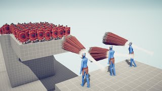 3x GOD SPEAR THROWERS vs 100x UNITS - Totally Accurate Battle Simulator TABS