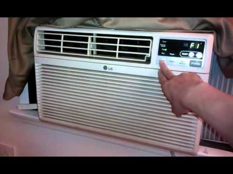 Lg Window Air Conditioner Lwhd8000ry6 Youtube