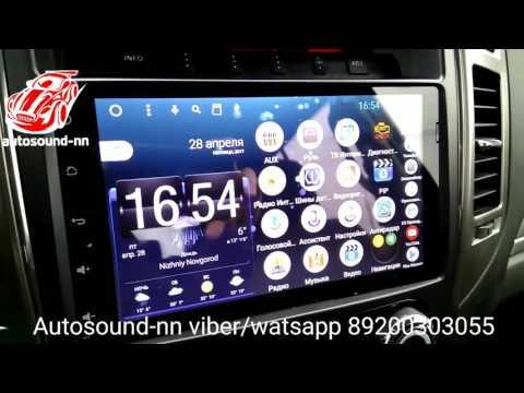 "Обзор Штатной Магнитолы Mitsubishi Pajero 4 9""(2014)android 6.0"