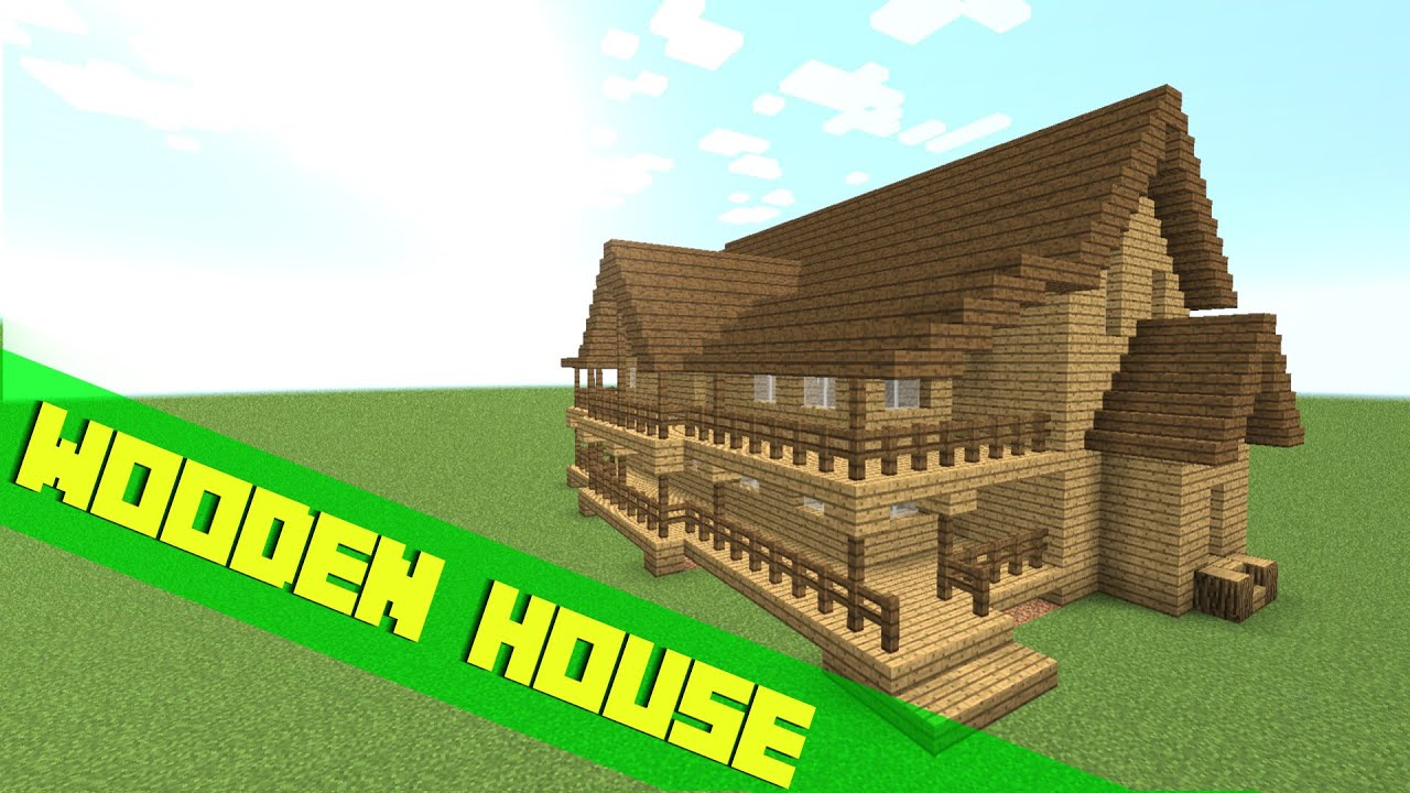 Minecraft How To Build A Big Wooden House Tutorial