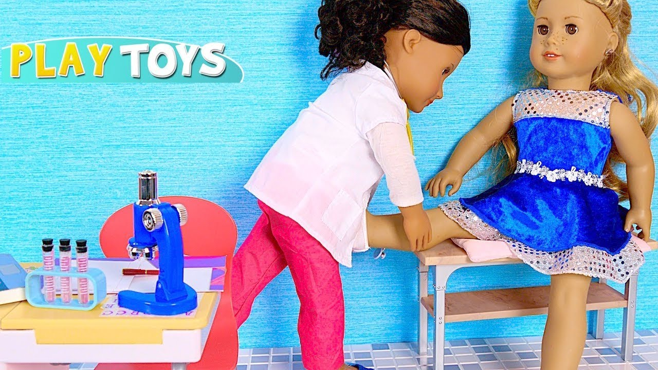 baby doll doctor toys play american girl doll youtube. Black Bedroom Furniture Sets. Home Design Ideas