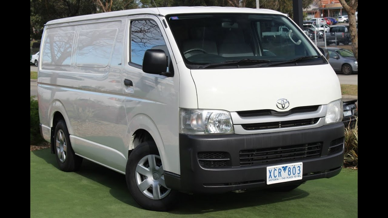 9199fc899978f4 B5416 - 2009 Toyota Hiace LWB Manual MY08 Review - YouTube
