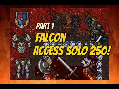 Tibia Falcon Access Solo Level 250 The Order Of The Falcons Part 1 - Oberon Falcon Items