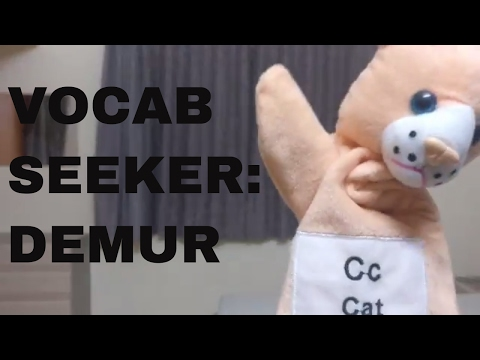 Vocab Seeker | Demur | Word of the Day | Niharika Santani
