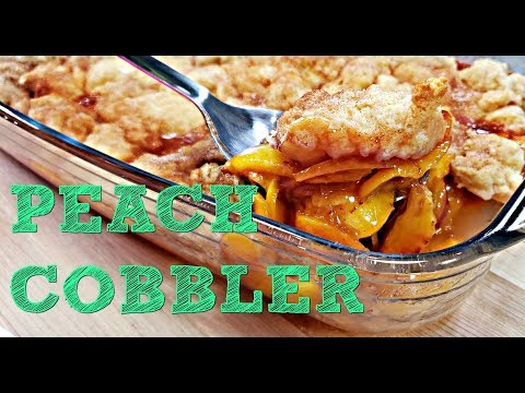 EASY Peach Cobbler Recipe | How To Make Peach Cobbler | Simply Mama Cooks