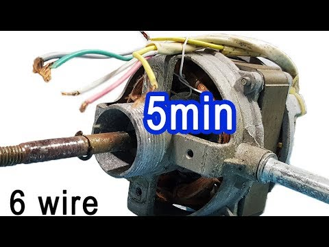 2 tips connect wire table fan most understandable 5 or 6 wire motor wiring  diagram