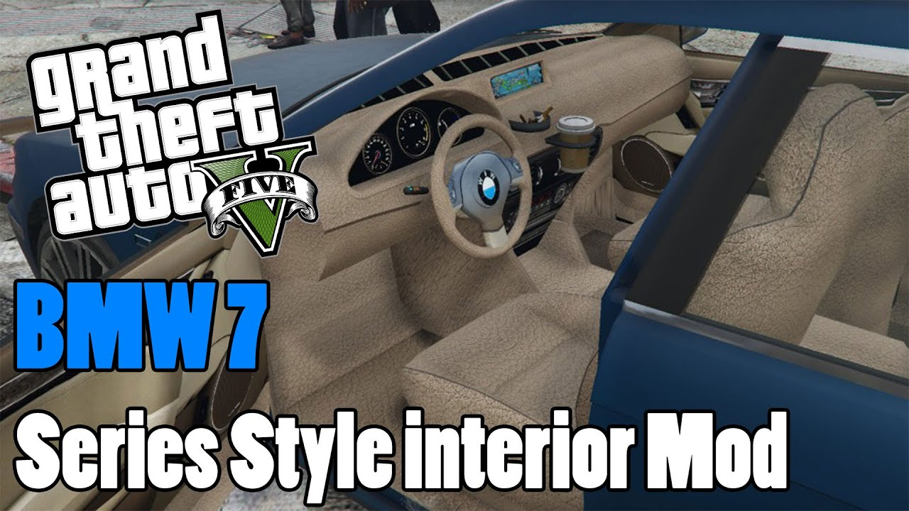 gta 5 bmw 7 series style interior mod youtube. Black Bedroom Furniture Sets. Home Design Ideas