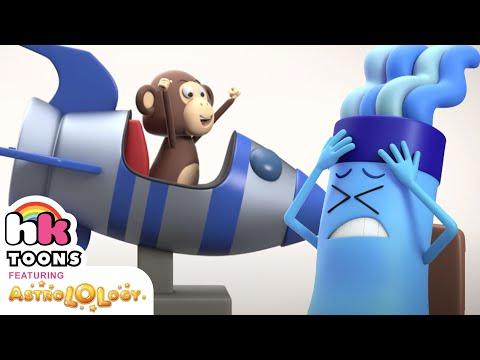 Space Monkey 🚀 🐵   | AstroLOLogy Cartoon | NEW Episode | 3D Funny Cartoons | HooplaKidz Toons