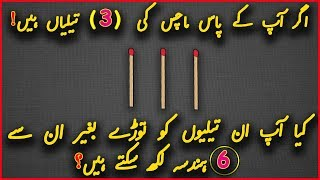 Puzzles and Urdu Riddles with Answers   Common Sense Test   Brain IQ Questions #28