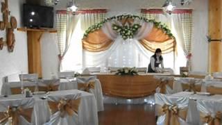Оформление свадьбы в золотом цвете.AVI