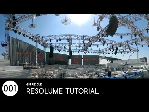 #001 AV Technician Rescue - Resolume Mapping Tutorial (Basic)