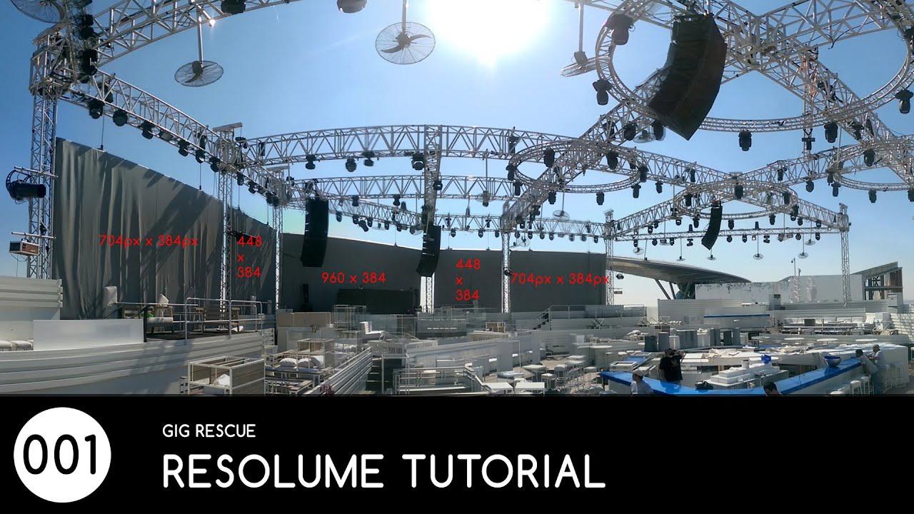 #001 AV Technician Rescue - Resolume Mapping Tutorial (Basic)