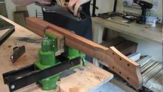 Fabrication manche guitare electrique (Eric Stiegler - Luthier)